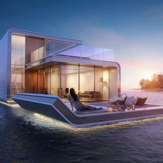 The floating homes on Dubai