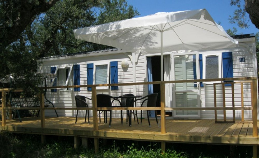 Mobile homes in Greece in summer