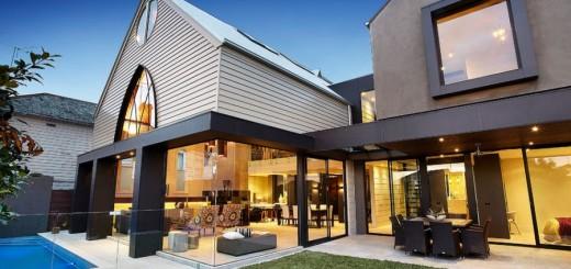 Attic homes exterior design in the city