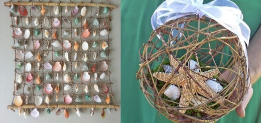 DIY projects with seashells and snails