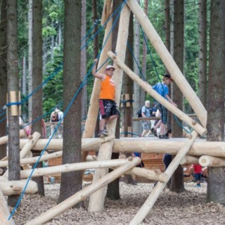 Natural playgrounds for children at home