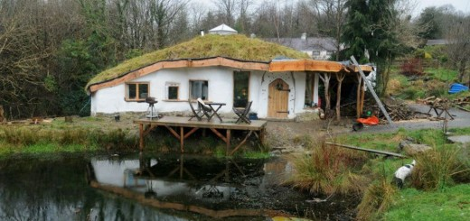 The hobbit house in the countryside