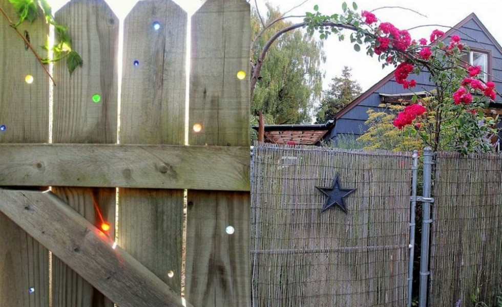 DIY garden fence ideas at home