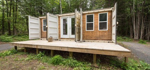 Life in a shipping container in the woods