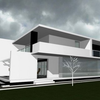 Flat roof house plans in the city