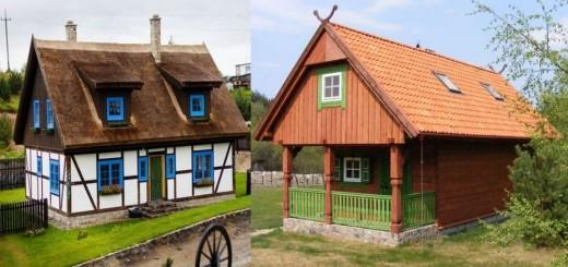 Traditional Polish houses are elegant