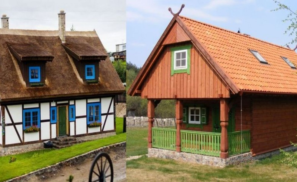 Traditional Polish houses are elegant