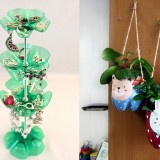 Plastic bottles recycling ideas at home