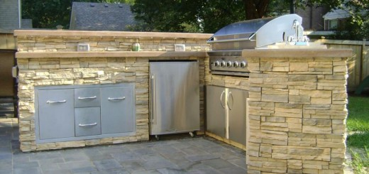 How to build an outdoor kitchen on the terrace