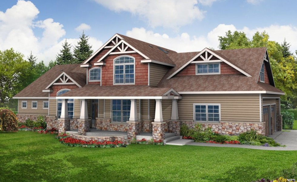 Two entrance house plans for big families