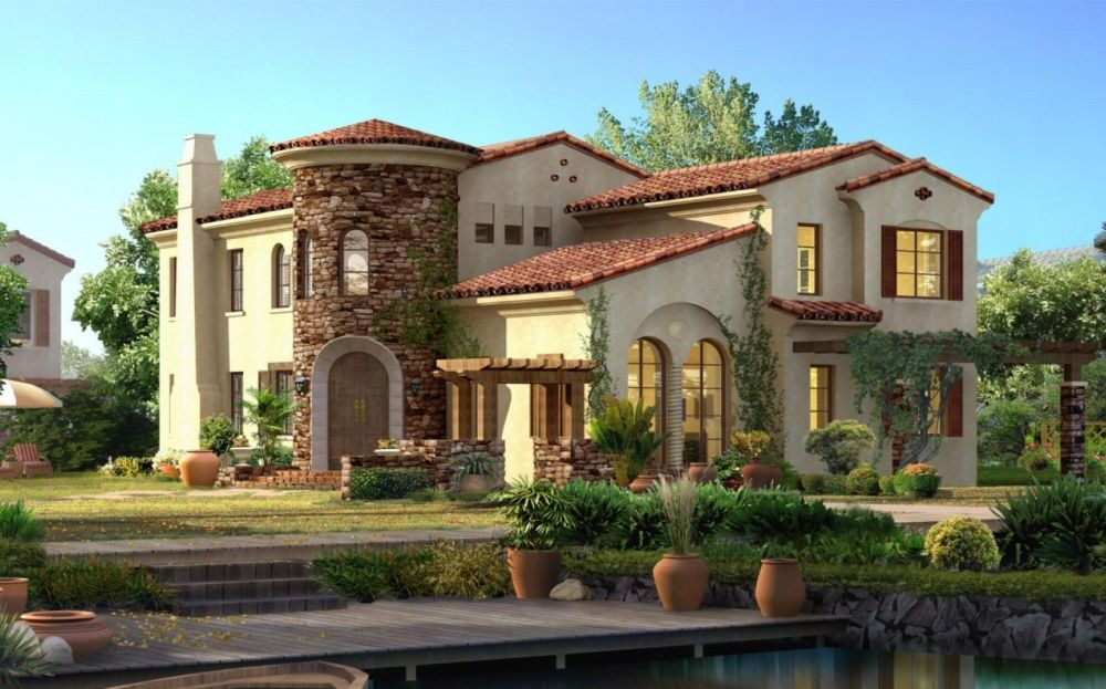 Spanish style house plans - exotic design