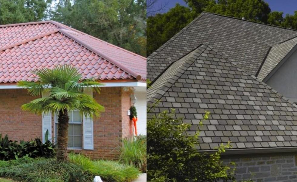 Metallic roof tiles vs bitumen sheets in roofs
