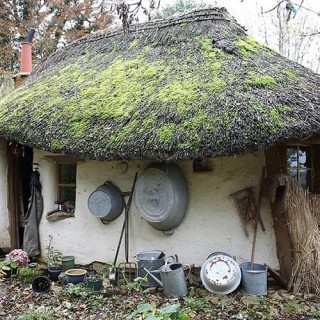 The cob house in England