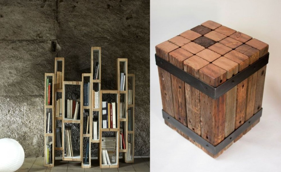 Building furniture out of reclaimed wood at home