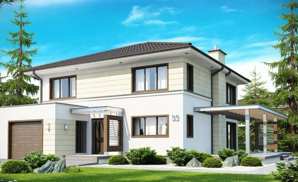 One and two story house plans in the city