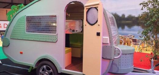 Lego brick caravan a record