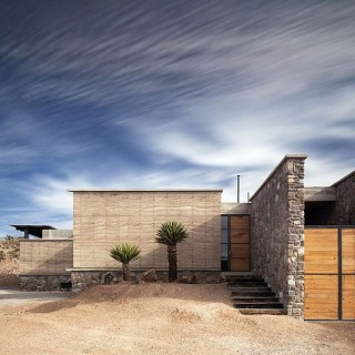 Modern home in the Mexican desert today