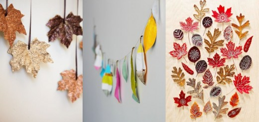 Autumn leaf decorations for home