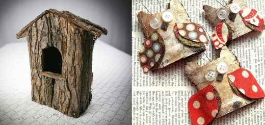 Tree bark decorations for home