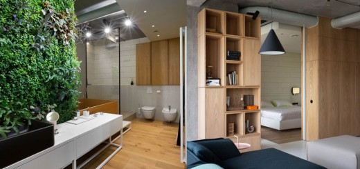 The penthouse apartment in Kiev looks cool
