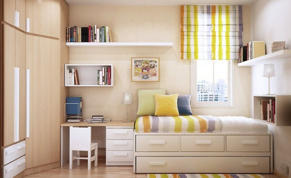 Furniture for small bedrooms - keep space under control