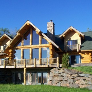Wood and stone house plans for all