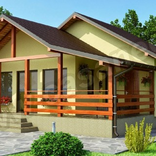 OSB house building in examples