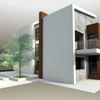 Protruding balcony modern house plans for all