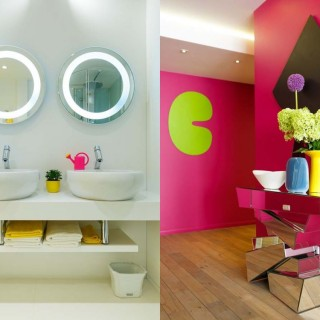 The colorful apartment in Russia