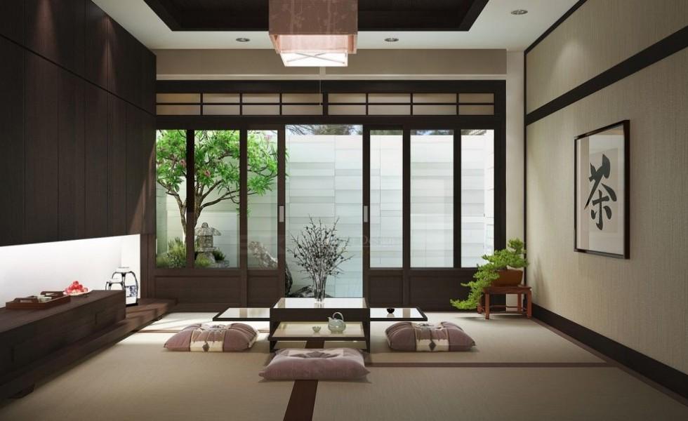 Japanese interior design is simple