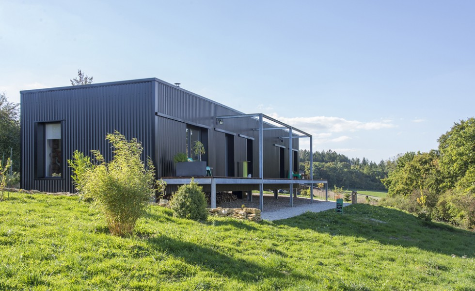 The shipping container home in France