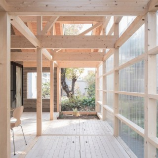 The timber and polycarbonate house in Japan