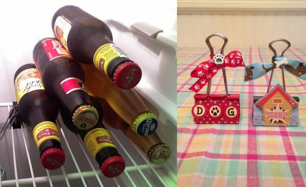 Clever uses for binder clips at home