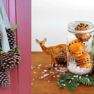 The most beautiful natural Christmas decorations at home