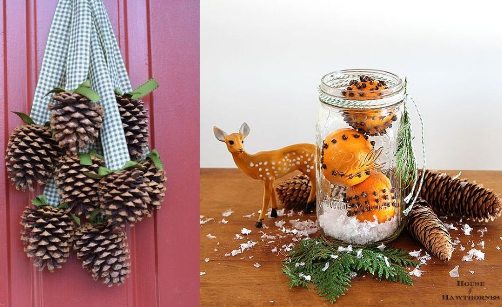 The Most Beautiful Natural Christmas Decorations 16 Craft Ideas