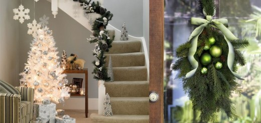 Christmas fir branches decorations for home