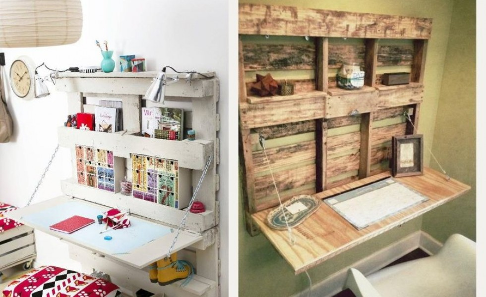 Wood pallet desks homemade