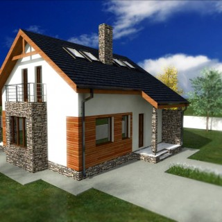 Loft houses under 150 square meters for all