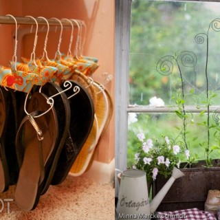 Unusual uses for wire coat hangers