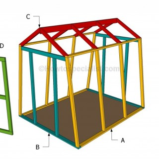 How to build a wooden greenhouse easily