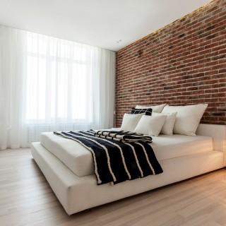 Bedrooms with brick walls look great