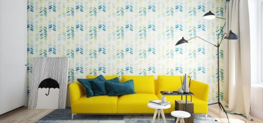 Yellow accents in interior design ideas