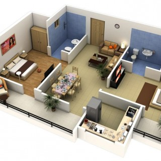 How to turn a 2 bedroom into a 3 bedroom apartment easily