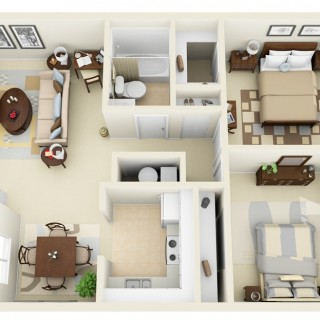 3 room apartment layouts for all