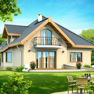 Four room attic house plans for all