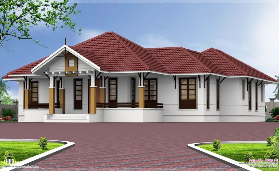 Single story 4 bedroom house plans houz buzz for Four room house design