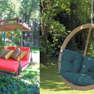 Wooden garden swing ideas