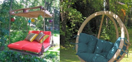 Wooden garden swing ideas