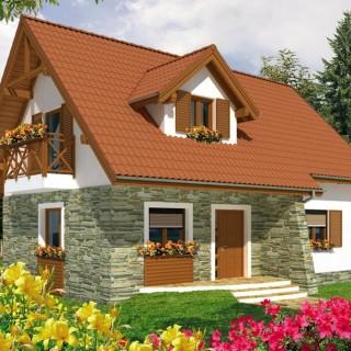 Attic houses under 100 square meters