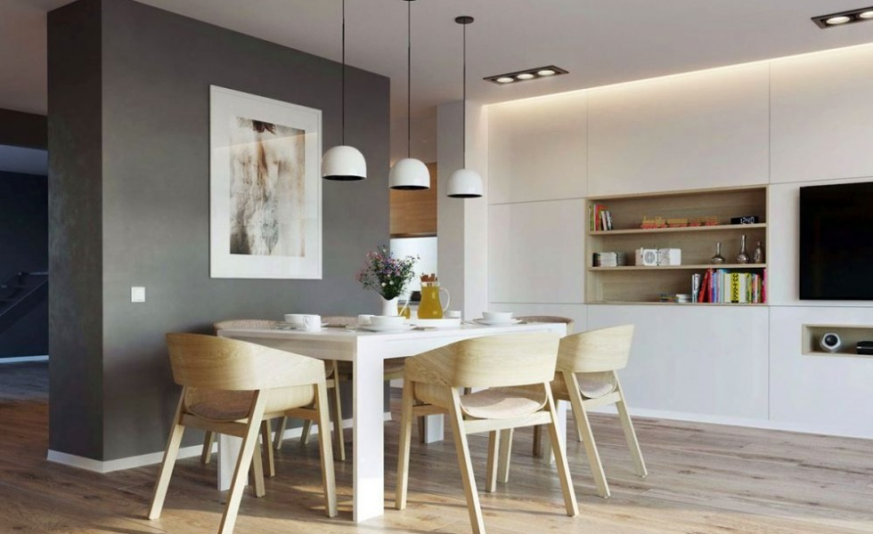 Scandinavian style dining rooms